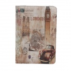 London Big Ben Pattern Protective PU-Leder Smart Fall für Ipad MINI - Grau + Braun