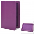 "Protective Lichee Pattern PU Leather Case for Acer Iconia A200/A210/A211 10.1"" Tablets - Deep Purple"