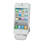 N052-1 iDock 30-Pin Charger Attachment Mini Docking Station for iPhone 4 / 4S - White + Grey