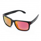 BAOLILA 009102 UV400 Protection TR90 Frame Revo Red Resin Lens Polarized Sunglasses - Black