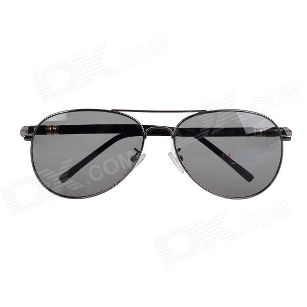209 Classic UV400 Protection Polarized Sunglasses - Grey + Black uv400 uv protection resin lens sunglasses with carrying case black