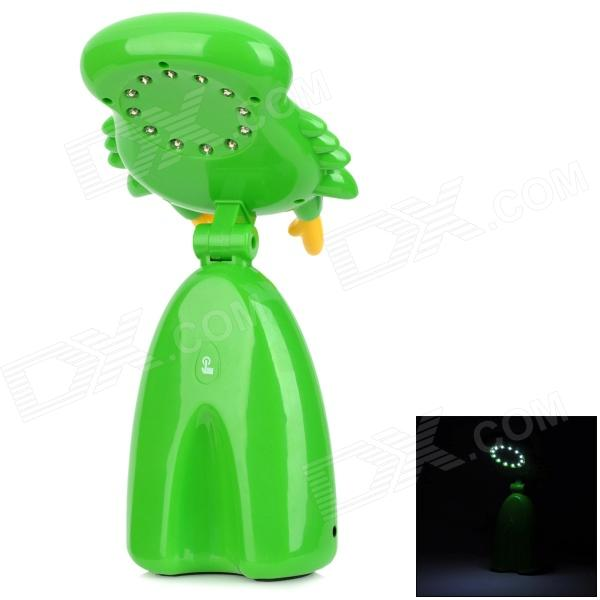 Lucky Dragon Style USB Rechargeable 1.2W 450lm 12-LED Eye-Protection Touch Table Light - Green