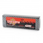 WILD SCORPION Replacement 7.4V 4200mAh Battery for 1:10 / 1:8 R/C Model Car - Black + Silver Grey