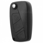 AML030613 Replacement Car Remote 3-Key Folding Case + Toothless Key for Fiat - Black + Silver