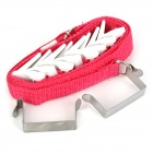 HOOK-8 Door / Wall Multi-Layer Hanging Rack - Red + White + Silver