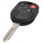 AML031136 Replacement Car 4-Button Remote Key Case for Ford - Black + Silver