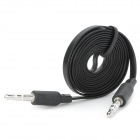 Flat 3.5mm Male to Male Audio Connection Cable - Black (98cm)