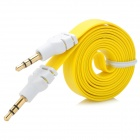 Flat 3.5mm Male to Male Audio Extension Cable - Yellow + White