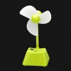012-315 Stylish USB Powered Touch Key Fan w/ USB Cable - Green + White