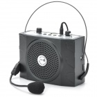 Multi-function Waist Hanging Amplifier w/ FM / TF Card / USB / Mic - Black + Silver Grey