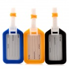 YWDY Anti-lost Suitcase Bag / Luggage Tag - White + Black + Yellow + Blue (3 PCS)