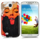 Cool Lady Pattern Protective Plastic Back Case for Samsung Galaxy S4 i9500 - Red + Black + White
