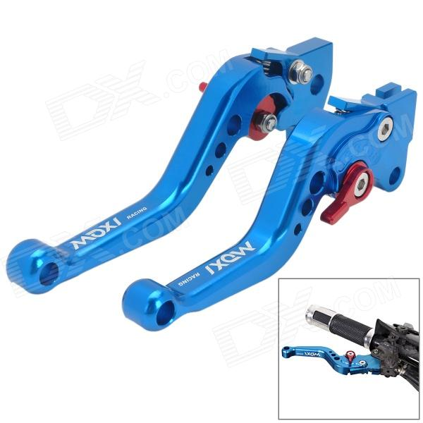 MotorcycleOil Pump Brake + Clutch Lever for Yamaha Scooter Force / Cygnus - Blue customized clutch brake lever set for kawasaki mt1 kv75 kd80 kd80m kdx80a g3ss mc1f11 kd100m kh10b kv100 c2ss f6 ke125a