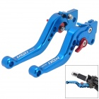 MotorcycleOil Pump Brake + Clutch Lever for Yamaha Scooter Force / Cygnus - Blue