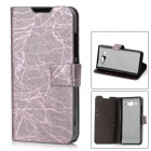 Protective PU Leather + TPU Case for  Xiaomi MI-2 - Purple + Black