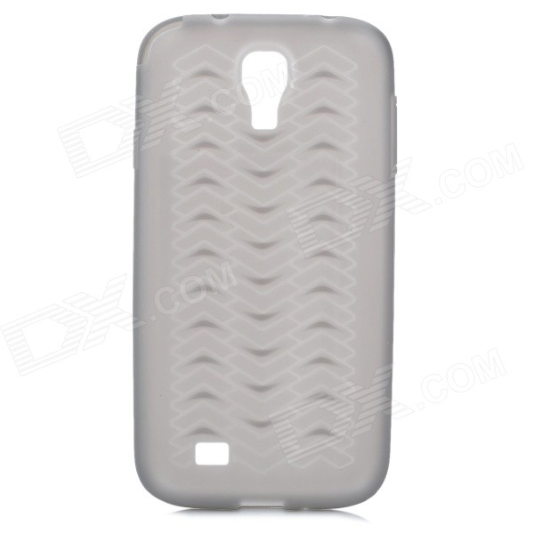 Protective Anti-Slip Tyre Tire Tread Style Plastic Back Case for Samsung Galaxy S4 i9500 - Black no hurting rim tyre wrench