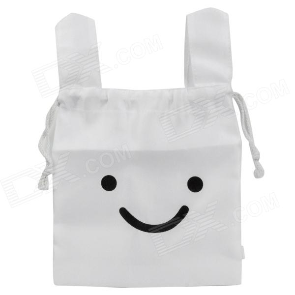 Cute Rabbit Style Portable Non-Woven Cloth Carrying Pouch - White