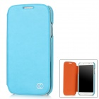 KUCHI Protective PU Leather Flip-Open Case for Samsung Galaxy S4 / i9500 - Deep Blue