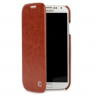 KUCHI Protective PU Leather Flip-Open Case for Samsung Galaxy S4 / i9500 - Brown