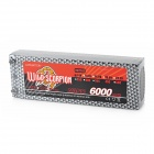 WILD SCORPION Replacement 45C 7.4V 6000mAh Battery for 1:8 R/C Model Car - Black + Silver Grey