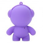 Headset Doll Style 5738 Mini Music Speaker for Ipod - Purple (3.5mm Plug)