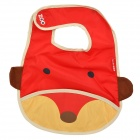 Cute Little Fox Pattern Baby's Bib w/ Velcro Buckle - Red + Yellow + Brown