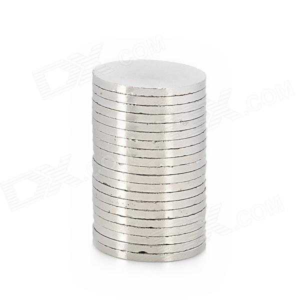 20 x 1.5mm Electrofacing Ferrit magnet Ring - Silver (20 PCS)