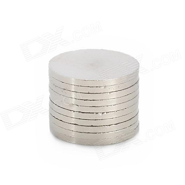 20 x 1,5 mm Electrofacing ferrit Magnet Ring - Silver (10 St)
