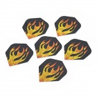 Stilvolle Flamme Muster PET Darts Schwanz Wings - Schwarz + Gelb (6 PCS)