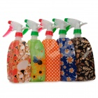 YWTJ 0312 Multifunction Folding Flower Pattern Watering Can Bottle - Multicolored (5 PCS)