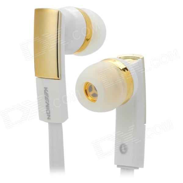 E810 Super Bass In-Ear Earphone - White + Golden (3.5mm Plug) sleek makeup true colour lipstick tweek губная помада тон 815
