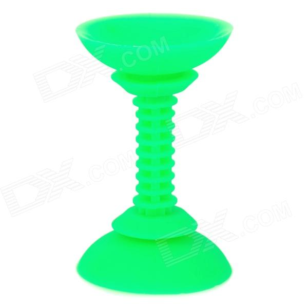 Universal 180 Degree Rotatable Dural-end Suction Cup Silicone Phone Holder Stand for Car Use - Green dural use adapter for universal for spotting scopes