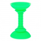 Universal 180 Degree Rotatable Dural-end Suction Cup Silicone Phone Holder Stand for Car Use - Green