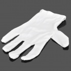 Elastic Cotton Family Cleaning Gloves - White (Pair)