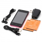 "Newish68M (Z7_WVGA_TL) Android 4.0 GSM Bar Phone w/ 4.0"" Capacitive Screen and Wi-Fi - Black"