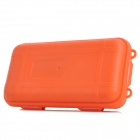 Waterproof Portable Plastic Medicine Organizer Box - Orange