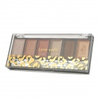 6-Color Cosmetic Makeup Eyeshadow Set - Black + Transparent