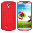 Anti-Slip Tyre Tire Tread Style Protective Plastic Back Case for Samsung Galaxy S4 i9500 - Red