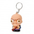 Pop Out Eyes Doll Stress Reliever Relief Squeeze Toy Keychain - Yellowish Pink