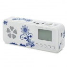 "NIZHI TT-601 1.5"" LED Portable MP3 Player Speaker w/ FM Radio / TF / USB - Deep Blue + White"