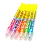Double Head Fluorescent 6-Color Textmarker - Bunte (6 PCS)