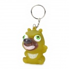 Dog Style Pop Out Eyes Doll Stress Reliever Relief Squeeze Toy Keychain - Peak Green
