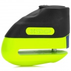 Motorcycle / Electric Vehicle Anti-theft Disc Brake Lock - Black + Fluorescent Green