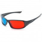 HCBL A56 PC Frame Football Sports 3D Glasses - Red + Black + Blue