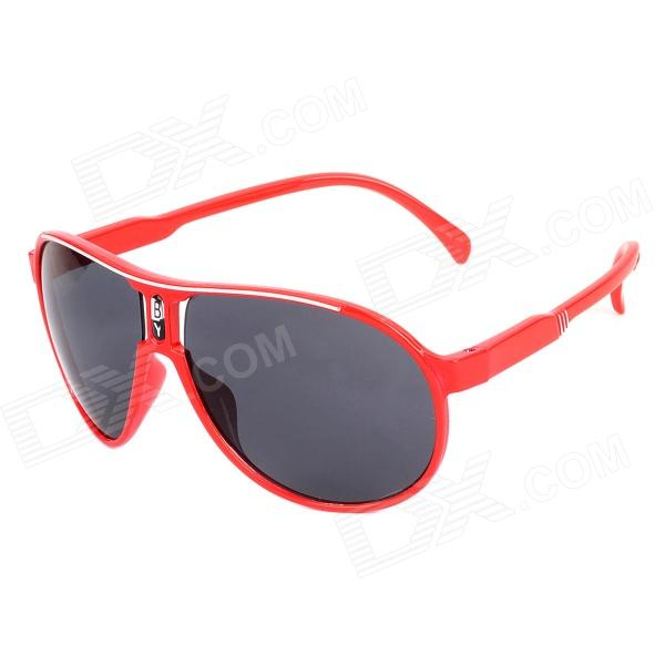 Fashion FG-02 UV400 Protection Resin Lens Sunglasses for Children - Red fashion uv400 protection round shape resin lens sunglasses wine red