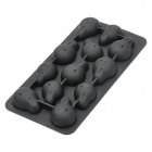 Silicone Funny Face Style Ice Cubes Trays Maker DIY Mould - Black