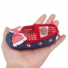 Lovely Princess Bowknot Baby Shoes - Blue + Red + White (3~6 Months / Pair)