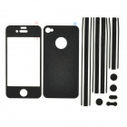 i-color Full Body Stickers Set for Iphone 4 / 4S - Black