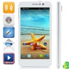 "XiaoCai G6 MTK6589 Quad-Core Android 4.2.1 WCDMA Bar Phone w/ 5.0"" HD, Wi-Fi  and GPS - White"