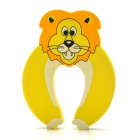 Cute Cartoon Lion Style Safety Door Stopper - Orange + Yellow + Black + White